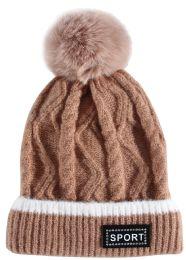 24 Units of Kids Winter Hat With Fur - Junior / Kids Winter Hats