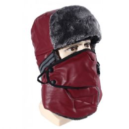 24 Units of Winter Trapper Hat With Fur - Winter Beanie Hats