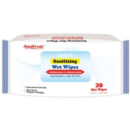 72 Units of Sanitizing Wet Wipes - Cleaning Products
