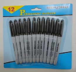 25 Units of 12pc Black Marker - Markers