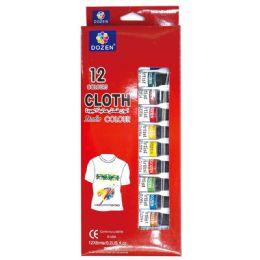 48 Units of Cloth Color Set - Paint, Brushes & Finger Paint
