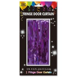 72 Units of Fringe Door Curtain In Purple - Party Banners