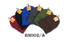 48 Units of Beanie Hat Assorted Colors - Winter Hats