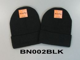 48 Units of Beanie Hat Black Only - Winter Hats