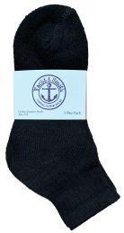 240 Units of Yacht & Smith Kids Cotton Quarter Ankle Socks In Black Size 6-8 Bulk Pack - Boys Ankle Sock
