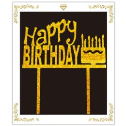 72 Units of Birthday Cake Topper In Gold - Birthday Candles