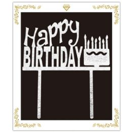 72 Units of Birthday Cake Topper In Silver - Birthday Candles