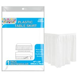 72 Units of Table Skirt In White - Table Cloth