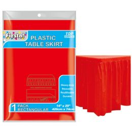 72 Units of Table Skirt In Red - Party Paper Goods