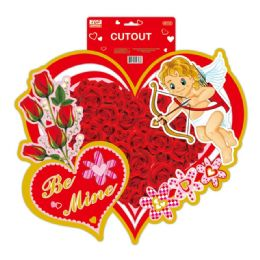 96 Units of Valentines Day Cutout - Valentine Cut Out's Decoration
