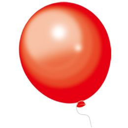 24 Units of Red Balloons 100 Count - Balloons & Balloon Holder