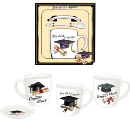 48 Units of Graduation Mug Assorted Design - Graduation