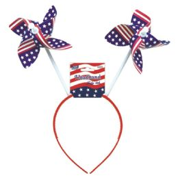 72 Units of July 4th headband windmill - Seasonal Items