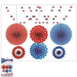 24 Units of July 4th Decoration Fan Set - 4th Of July