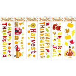 96 Units of Fall Window Gel Cling - Halloween & Thanksgiving