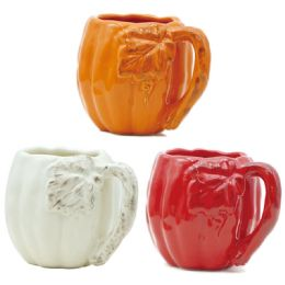 24 Units of Harvest Mug In Assorted Color - Halloween & Thanksgiving