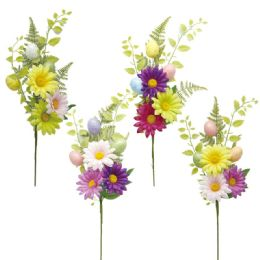 144 Units of Flower With Foam Egg And Bunny - Easter