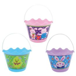 108 Units of Easter Bucket In Mixed Color - Easter