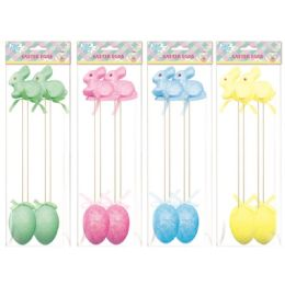 108 Units of Four Pack Easter Rabbit And Egg - Easter