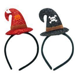 96 Units of Halloween Witch Headband - Halloween & Thanksgiving
