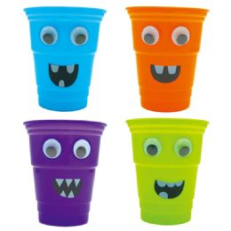 120 Units of Plastic Halloween Cups Assorted - Halloween & Thanksgiving
