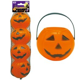 96 Units of Four Count Halloween Pumpkin - Halloween & Thanksgiving