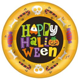 96 Units of 8 Count Halloween Plate - Halloween & Thanksgiving