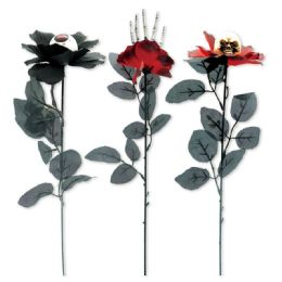 144 Units of Halloween Rose Assorted - Halloween & Thanksgiving