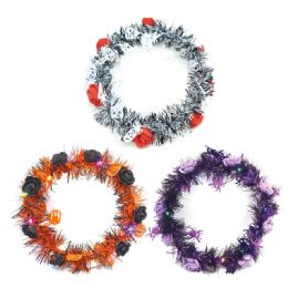 96 Units of Halloween Led Wreath - Halloween & Thanksgiving