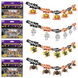 96 Units of Halloween Banner Assorted - Halloween & Thanksgiving