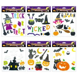 96 Units of Halloween Gel Cling - Halloween & Thanksgiving