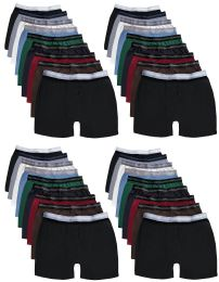 24 Units of Yacht & Smith Mens 100% Cotton Boxer Brief Assorted Colors Size Medium - Mens Underwear