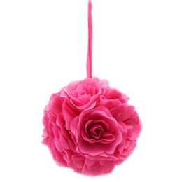 12 Units of Ten Inch Pom Flower Silk Hot Pink - Artificial Flowers