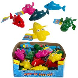 24 Units of Pool and Bath Toy Wind-up Sea Animals - Summer Toys