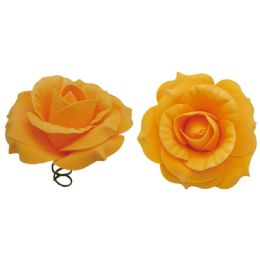 48 Units of Eight Inch Foam Rose In Gold - Artificial Flowers