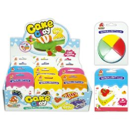 96 Units of Clay Cake In Assorted Colors - Clay & Play Dough