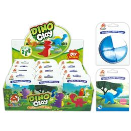 96 Units of Clay Dinosaur In Assorted Colors - Clay & Play Dough