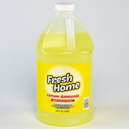8 Units of Ammonia 64 Ounce Lemon Cleaner Fresh Home - Cleaning Products