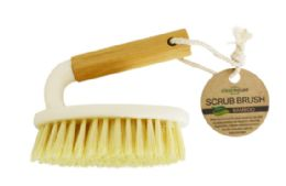 24 Units of Bamboo Handle Scrub Brush - Cleaning Products