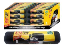 48 Units of Trash Bags 33 Gallon 8 Count - Garbage & Storage Bags