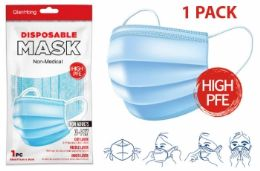 200 Units of 1 Pack Face Mask (blue) - Face Mask