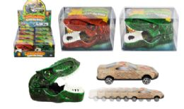 24 Units of Dinosaur Car Launcher With Car - Cars, Planes, Trains & Bikes