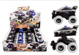24 Units of Police Crash Car Friction Powered - Cars, Planes, Trains & Bikes