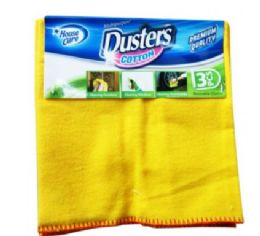 24 Units of 3 Pack Cotton Dusters - Cleaning Products
