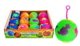 24 Units of Flashing Yo Yo Ball Dinosaur Pattern - Balls