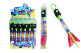 24 Units of Light Up Slingshot Rocket - Light Up Toys