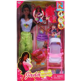 "12 Units of 11.5"" ETHNIC JADA DOLL W/ ACCESSORIES IN WINDOW BOX - Dolls"