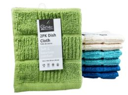 24 Units of Dish Cloth Checkered 2 Pack - Kitchen Towels