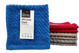 24 Units of Dish Cloth Zig Zag 2 Pack - Kitchen Towels