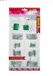48 Units of Safety Pins And Needles - Sewing Supplies